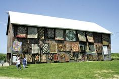 """Thirty-seven handmade quilts were on display at """"The Barn Show, An Outdoor Quilt Show,"""" in rural Lanark."""