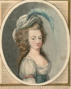 An engraving of Marie Antoinette, circa 1789-1790; published with her new title, 'Queen of the French,