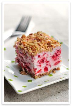 frozen strawberry squares desserts