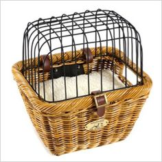 Pet basket for your bike! So cute!!