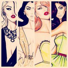 Hayden Williams Fashion Illustrations: Sultry Ladies by Hayden Williams