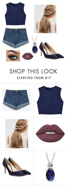 """""""Untitled #53"""" by sparkle11-1 ❤ liked on Polyvore featuring Zara, Alice + Olivia, ASOS, Lime Crime, Gianvito Rossi and Ice"""