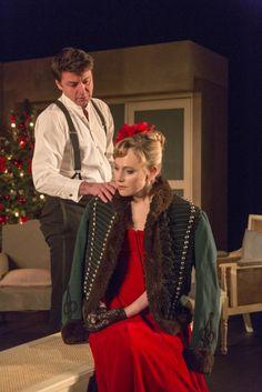 Hattie Morahan as Nora and Dominic Rowan as Torvald