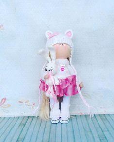 Handmade Doll Rag Doll Textile Doll Tilda Doll Fabric Doll Green Doll Muñecas Soft Doll Cloth Doll Baby Doll Ask a question 79,00 US$