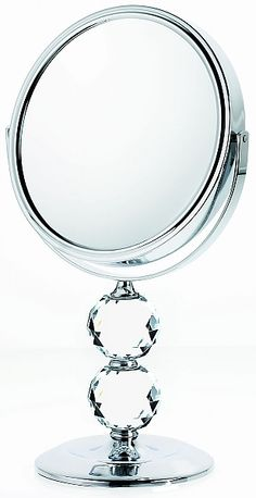 Danielle Creations 10x/1x Reversible Double Crystal Ball Vanity Makeup Mirrors | seattleluxe.com