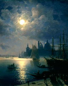Night in Venice Ivan Konstantinovich Aivazovsky 1880