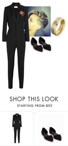 """""""A lesbian wedding"""" by courtney-paige-mcintosh ❤ liked on Polyvore featuring Yves Saint Laurent and Nly Shoes"""