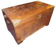 197 Sold Victorian Carved Camphor Wood Chinese Chest - Very Large - Recently Sold - Martin Fennelly Antiques