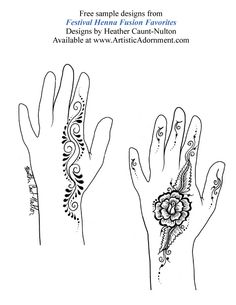 Festival Henna Fusion Favorites - By Heather Caunt-Nulton - $10.00 : Artistic Adornment, Henna Supplies - henna tattoo kits, henna powder, professional mehndi supplies