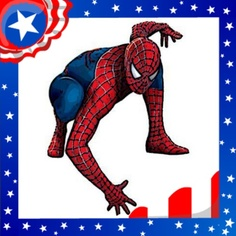 Even #Spiderman is getting in the spirit with this Red White and Blue photo-frame from #ImageChef: http://www.imagechef.com/ic/make.jsp?tid=Stars+and+Stripes