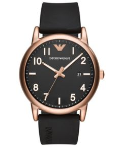 Best Emporio Armani Men's Analogue Quartz Watch with Silicone Strap Emporio Armani, Armani Men, Armani Rose, Armani Watches For Men, Best Watches For Men, Luxury Watches, Big Watches, Cool Watches, Crystals
