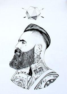 Born sinner art if act sakal modelleri, çizimler ve dövme. Drawing Simple, Beard Art, Barber Shop Decor, Hipster Art, Hipster Tattoo, Barbershop Design, Arte Sketchbook, Hair And Beard Styles, Art Design