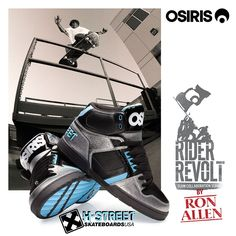The Limited Edition Ron Allen #RiderRevolt collab with Osiris is dropping right now. Dealer inquiries: contact@h-street.com #Shoes #Skateshoes