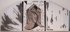 "Threefold. 17 x28"" Acrylic on Bas-relief Cardboard. 2016, from Anderson Ranch Workshop"