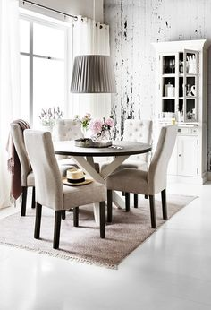 // Dining Room Table, Dining Bench, Dining Chairs, Skagen, Interior Inspiration, Sweet Home, New Homes, Indoor, Living Room