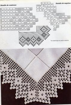 - Muestras y Motivos Ganchillo 64 - tymannost : Gallery. - Muestras y Motivos Ganchillo 64 - tymannost Filet Crochet, Crochet Doily Diagram, Crochet Doilies, Crochet Lace, Crochet Stitches, Crochet Border Patterns, Crochet Embellishments, Crochet Instructions, Crochet Tablecloth