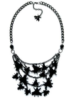 A is for Arsenic — Black Death Swarm Necklace