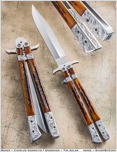 This butterfly knife is really beautiful and must be a dream to own.