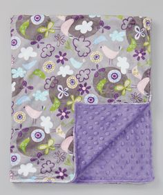Another great find on #zulily! Lolly Gags Silver & Jewel Purple Flyaway Minky Blanket by Lolly Gags #zulilyfinds