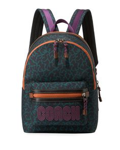 dfccadd9890a0d COACH MEN'S ACADEMY ANIMAL-PRINT BACKPACK. #coach #bags #leather #animal
