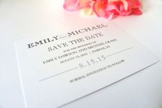 Made to match our Modern Wedding Invitation Set. Paper, colors and fonts can all be customized to reflect your wedding. Shown in Black and Gray. Purchase this $50 DEPOSIT listing to go towards your or