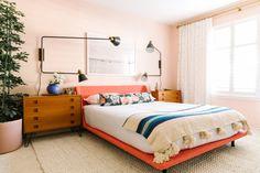 Casinha colorida: Mid Century Modern em pêssego