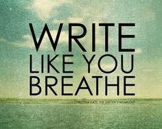 On #writing.