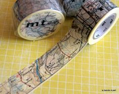 thème VOYAGE : masking-tape-mt-carte-routiere