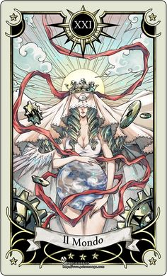 Tarot card The World yeah i start by the end XD. It's a tarot card I need to design because it's the one Gabrielle a character of my upcoming comi. Tarot card the world The World Tarot Card, What Are Tarot Cards, Frida Art, Art Carte, Tarot Astrology, Tarot Card Decks, Tarot Card Art, Tarot Learning, Tarot Card Meanings