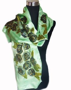Redcat silk art handpainted silk scarf. Available on Etsy https://www.etsy.com/shop/RedCatSilkArt?ref=hdr_shop_menu