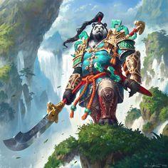 World of Warcraft Art World Of Warcraft, Art Warcraft, Warcraft Funny, Warcraft Characters, Fantasy Characters, Fantasy Creatures, Mythical Creatures, Pandaren Monk, Heroes Of The Storm