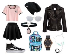 """Sin título #9"" by luna-giuliana on Polyvore featuring Vans, Current Mood, Linda Farrow, Marc Jacobs y Anine Bing"
