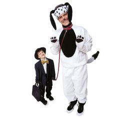 You won't have to remind your child to walk the dog this Halloween with this role-reversing pair of costumes. Smartly dressed in suit and tie, your little gent will have a howling good time taking his pretend pooch for a walk around the block.