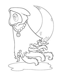 Lovecraft coloring pages for Cthulhu coloring pages