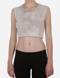 iriedaily - Vintage Belly Top light grey w