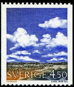 "Sweden, ""Cumulus"", 1990, designed and engraved by Martin Mörck"