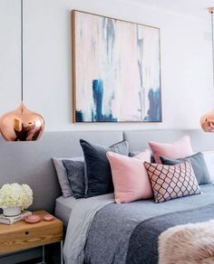 13 Best Modern and Stylish Scandinavian Bedroom Blue Decor Master Bedroom Interior, Diy Home Decor Bedroom, Bedroom Themes, Cozy Bedroom, Bedroom Furniture, Bedroom Ideas, Design Bedroom, Blush Bedroom, Furniture Chairs