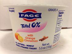 Crazy Food Dude: Review: Fage Total 0% with Orange Cinnamon Greek Yogurt