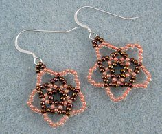 Pretty Seed Bead Earrings Tutorial - I would like these with different colors