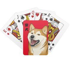 柴犬 Shiba Inu Dog playing cards Japanese Kanji