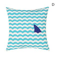 Home decor sea life throw pillows for couch mediterranean linen pillow