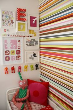 fun stripes on the wall