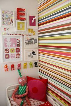 cool kid's art wall