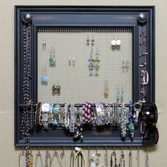Jewelry Organizer Display Rack Holder Picture by HedcraftFineArt, $59.95***  This is what they are charging online for this...how much to make it? I am guessing under $5.00 maybe. Think about it!