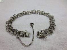 Sterling Silver Charm Bracelet by collections4u on Etsy, $47.00