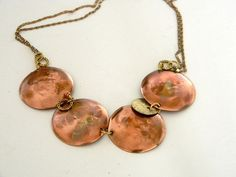 The warmth & splendor of Copper necklace is hanging around on Etsy : )