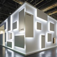 Sometimes, effective lighting can morph from a functional element into a key aesthetic component. Such was the case for these six exhibits, whose dramatic lighting strategies deftly transcended ancillary components to become theatrical elements.