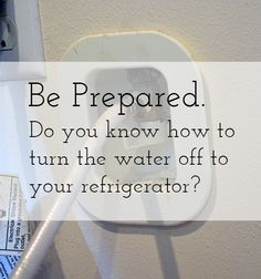 How to Turn Off the Water to Your Refrigerator - The Bold Abode