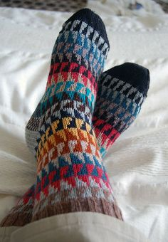 Scrap Yarn Socks I