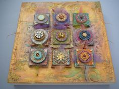 clay and encaustic by Laurie Mika                                                                                                                                                                                 More